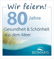 Logo 80 Jahre Biomaris